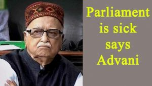 LK Advani feels Parliament is sick, feels like resigning
