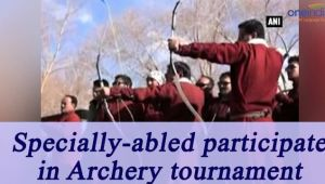 Ladakh : Specially-abled archers participate in Archery Tournament, Watch Video