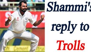 Mohammed Shami gives befitting reply to his trollers