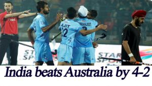 India beats Australia 4-2 to enter Junior Hockey World Cup final