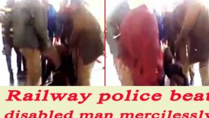Odisha Railway Police thrashed disabled man for allegedly atealing phone