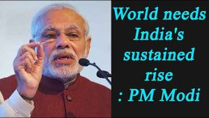 World needs India's sustained rise as much as India needs the world