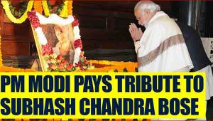 PM Modi pays tribute to Subhash Chandra Bose,makes classified files available on website