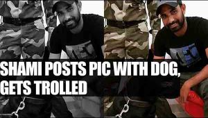 Mohmmed Shami shares Pic with a dog, fanatics feels its Unislamic