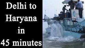 Delhi to Haryana in 45 minuets on water from June