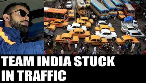 India vs England : Team India, England stuck in traffic for hours