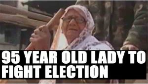 UP Elections 2017 : 95year old Jal Devi files nomination from Agra constituency