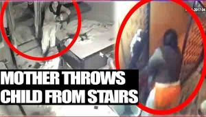 Delhi woman throws son down the stairs mercilessly; Watch Video