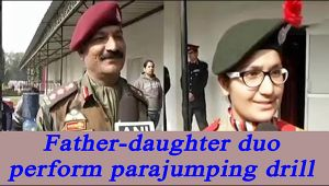 Indian Army witnesses first fatherdaughter duo performing parajumping drill