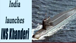 India Launchs Second ScorpeneClass Submarine Khanderi