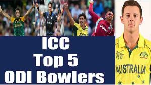ICC ODI Rankings: Here are Top 5 bowlers