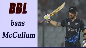 Brendon McCullum banned in Big Bash League