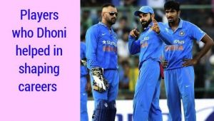 MS Dhoni helps 5 Team India players to shaped their career