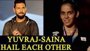 Yuvraj Singh and Saina Nehwal exchange praises for each other