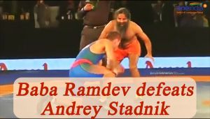 Baba Ramdev beats Andrey Stadnik, Olympic medalist by 120 in friendly match