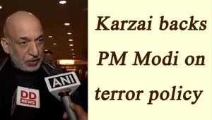Hamid Karzai backs PM Modi, says peace cannot prevail without support