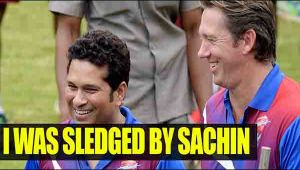 Sachin Tendulkar sledged me alleges Glenn McGrath
