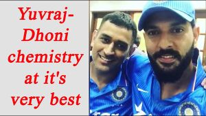 Yuvraj Singh, MS Dhoni record a special video message, watch video