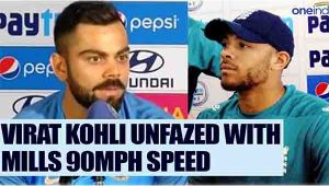 Virat Kohli brushes off Tymal Mills scare, says faced many fast bowler before