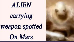 Alien Soldier spotted on Mars by NASA Curiosity Rover
