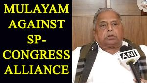 UP Elections 2017: Mulayam Singh Yadav against SPCongress alliance