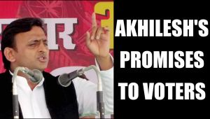 UP Elections 2017: Akhilesh Yadav promises voters maximum pension cover:Watch video
