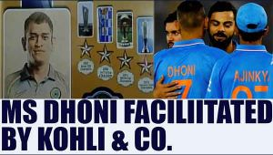 MS Dhoni facilitated by Virat Kohli and Company before 3rd T20 in Bengaluru