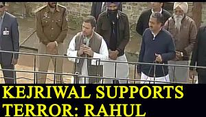 Rahul Gandhi claims, Arvind Kejriwal supports terrorists in Punjab; Watch Video