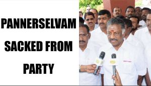 Sasikala  sacked Panneerselvam from AIADMK party : Watch video