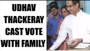 BMC polls 2017: Uddhav Thackeray, wife, son Aditya cast votes : Watch video