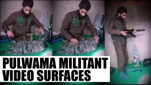 Pulwama terror video shows militant preparing for attack: Wacth video