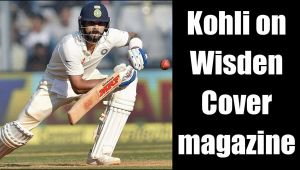 Virat Kohli's reverse sweep on Cover Of 2017 Wisden magazine