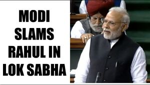 PM Modi in Lok Sabha, takes a dig at Rahul Gandhi with watch timing, Watch Video