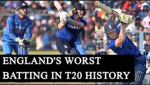 India vs England 3rd T20: England's worst batting collapse in T20 History