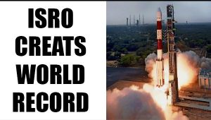 ISRO's PSLVC37 launches 104 satellites in one launch, creates world record