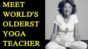 World's oldest yoga teacher who teaches at age of 98 years