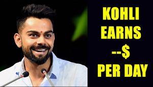 Virat Kohli earns  4 crore in single day
