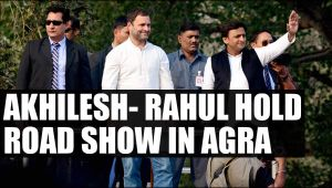 UP Elections 2017: Akhilesh Rahul hold roadshow in Agra, criticises Modi