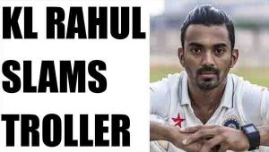 KL Rahul slams fan over rude questions on twitter