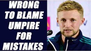 India vs England 3rd T20I:  Joe Root says its wrong to blame Umpire for mistakes