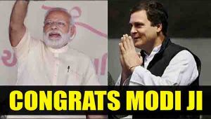 Rahul Gandhi congratulates PM Modi after winning in UP, Uttrakhand