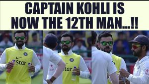 India VS Australia 4th Test : Virat Kohli brings drinks on field as 12th Man