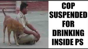 Rajasthan drunk cop suspended after video goes viral : Watch video