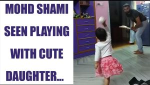 Mohammed Shami and his cute daughter play cricket together, watch video