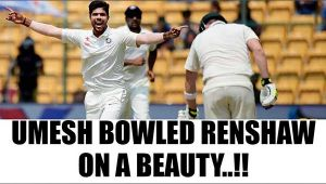 India vs Australia 4th Test: Umesh Yadav bowled Matt Renshaw