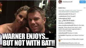 David Warner spends time with family after Bengaluru Test, watch video
