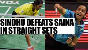 PV Sindhu defeats Saina Nehwal in straight sets in Indian Open 2017 quarterfinals