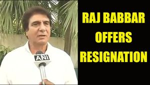 Raj Babbar offers resignation after congress party's defeat in UP