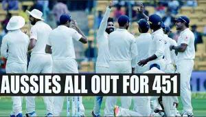 Australia all out for 451 runs in 1st innings, Jadega takes 5 wickets, Smith not out