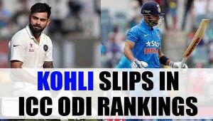 Virat Kohli slips in ICC ODI Rankings